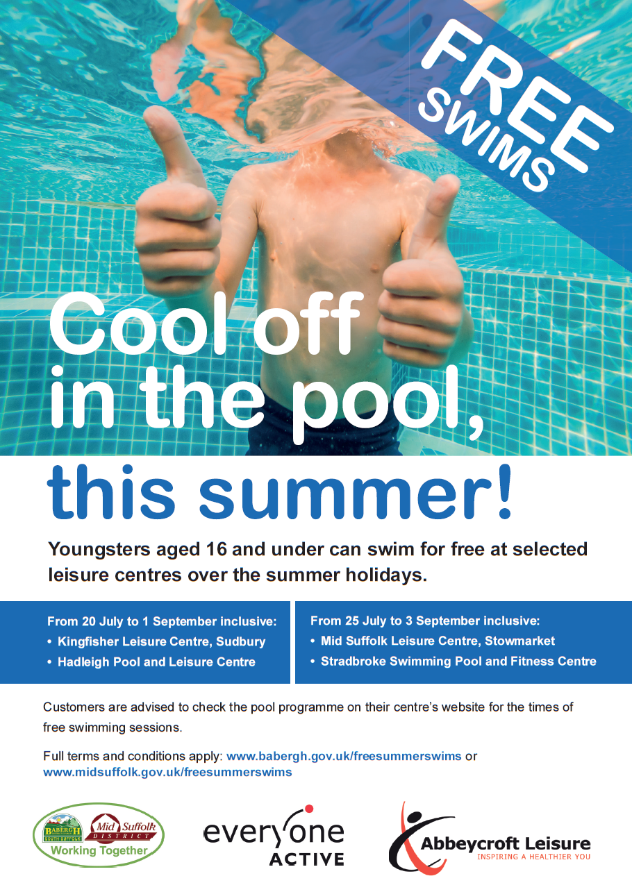 Free Swimming Initiative for under 16s