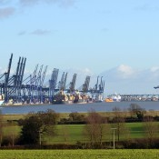 View of Felixstowe from Shotley